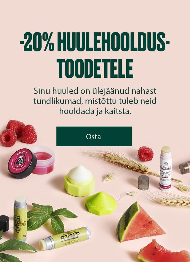 -20% huulehooldustoodetele