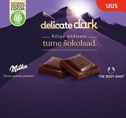 Milka Delicate Dark šokolaadid