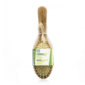 Большая овальная щётка из бамбука