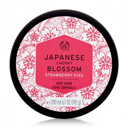 Japanese Cherry Blossom Strawberry Kiss kehakreem