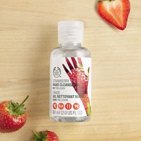 Maasikas antibakteriaalse toimega kätepuhastaja