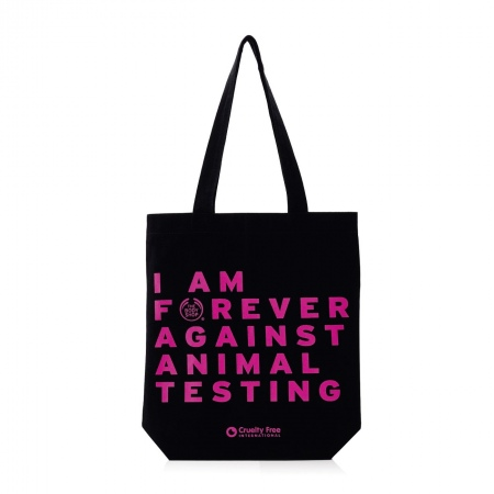 "2fa6b89b852 Riidest kott ""Forever Against Animal Testing"" 