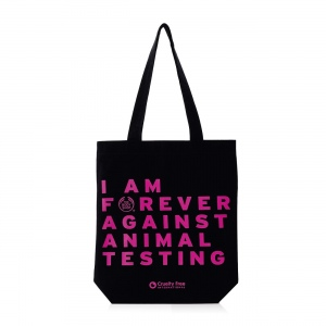 "Riidest kott ""Forever Against Animal Testing"""