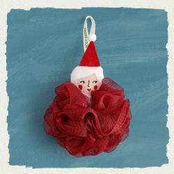 Мочалка «Миссис Санта»
