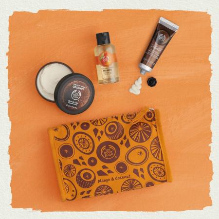 Подарочный набор в косметичке «Сладкие тропики»