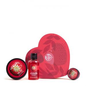 Maasika kinkekomplekt südamekujulises karbis