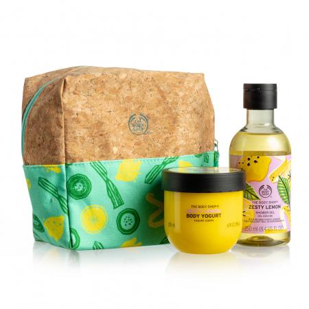 Подарочный набор в косметичке «Дерзкий Лимон»